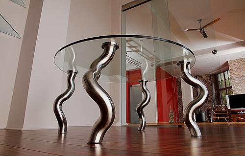 Design tisch glas rund neuesten design for Design tisch 60er